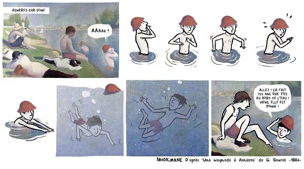 Baignade dessinee monswim for Chevilly larue piscine