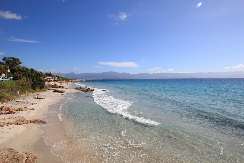 Barbicaja Beach in Ajaccio - South Corsica - France